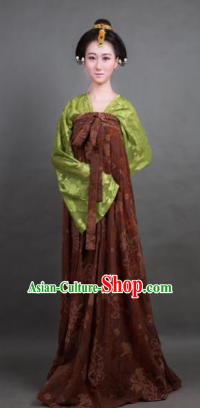 Traditional Chinese Tang Dynasty Countess Costume Ancient Hanfu Dress for Rich Women
