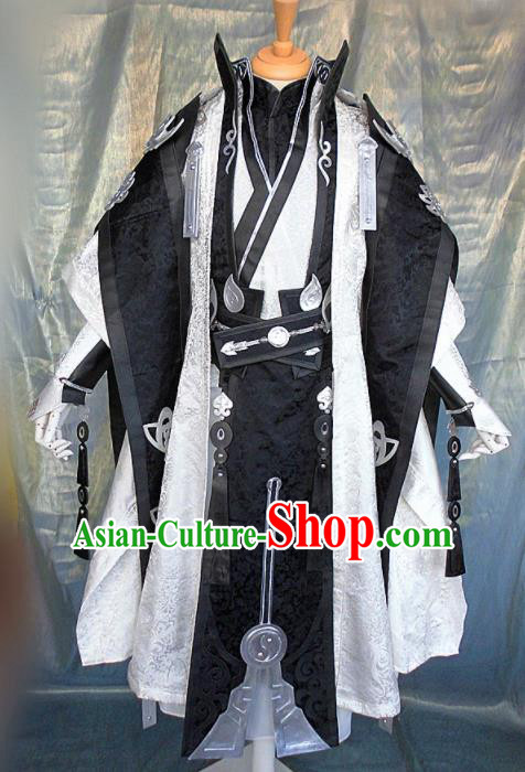 Asian Chinese Cosplay Customized General Royal Highness Costume Ancient Swordsman Clothing for Men