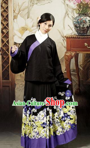 Traditional Chinese Ming Dynasty Maidenform Costume Ancient Young Lady Hanfu Dress for Women
