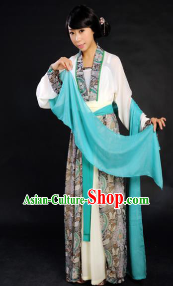 Traditional Chinese Song Dynasty Maidenform Costume Ancient Young Lady Clothing for Women