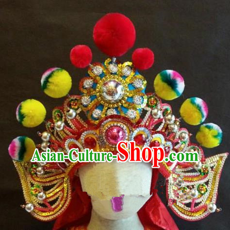Traditional Chinese Beijing Opera Hair Accessories General Headwear Percussion Hat for Men