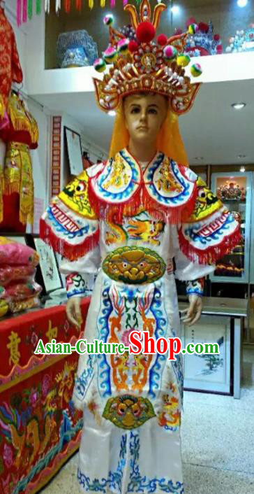 Traditional Chinese Beijing Opera Takefu Costume General Embroidered Clothing for Men