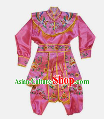Traditional Chinese Beijing Opera Diva Costume Swordswoman Embroidered Rosy Clothing for Adults