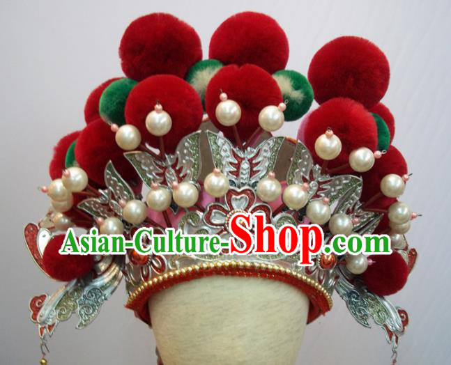 Traditional Chinese Beijing Opera Diva Hair Accessories Queen Phoenix Coronet Headwear for Kids