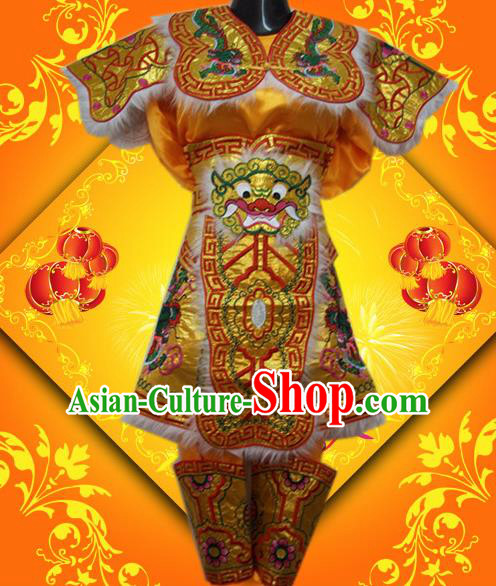 Traditional Chinese Beijing Opera General Costume Takefu Embroidered Clothing for Kids
