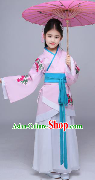 Chinese Han Dynasty Princess Costume Ancient Peri Hanfu Dress for Kids
