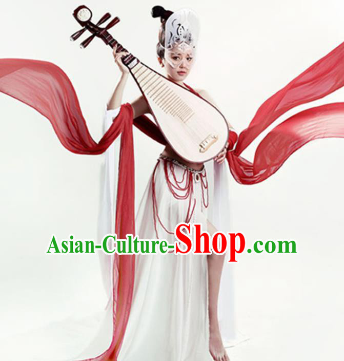 Chinese Tang Dynasty Flying Apsaras Dance Costume Ancient Fairy Hanfu Dress for Women