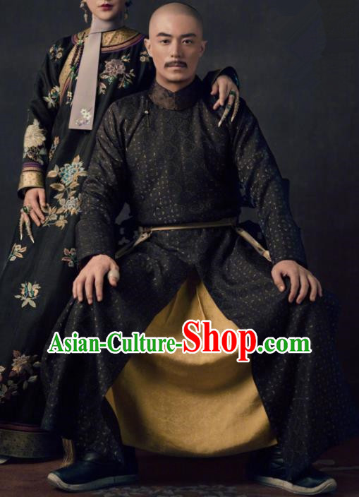 TV Ruyi Royal Love in the Palace Chinese Ancient Qing Dynasty Emperor Qianlong Informal Costumes for Men
