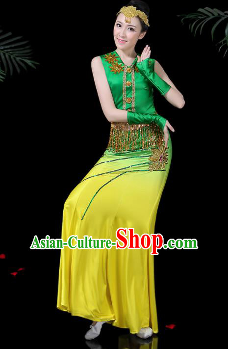 Chinese Traditional Classical Dance Dress Dai Minority Peacock Dance Clothing for Women