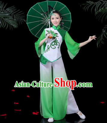 Chinese Classical Umbrella Dance Costume Traditional Folk Dance Yangko Clothing for Women