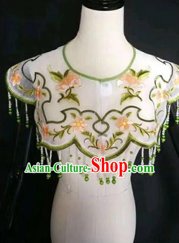 Chinese Traditional Beijing Opera Diva Accessories Peking Opera Costume Embroidered Cloud Tippet for Adults