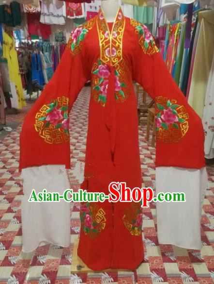 Chinese Traditional Beijing Opera Niche Wedding Costume Peking Opera Scholar Red Clothing for Adults