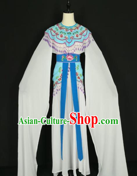 Chinese Traditional Beijing Opera Princess Blue Dress Peking Opera Actress Costume for Adults