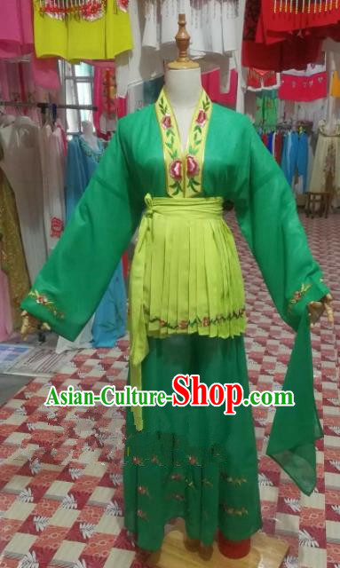 Chinese Traditional Beijing Opera Young Lady Clothing Peking Opera Mui Tsai Costume for Adults