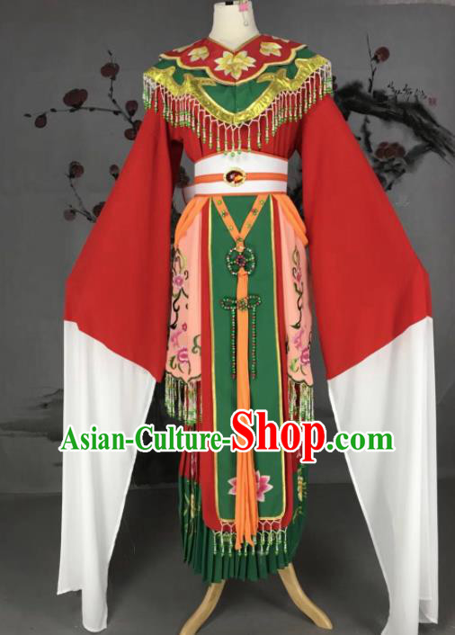 Chinese Traditional Beijing Opera Diva Costume Imperial Consort Embroidered Hanfu Dress for Adults