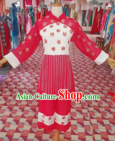 Chinese Traditional Beijing Opera Mui Tsai Costume Embroidered Hanfu Dress for Adults