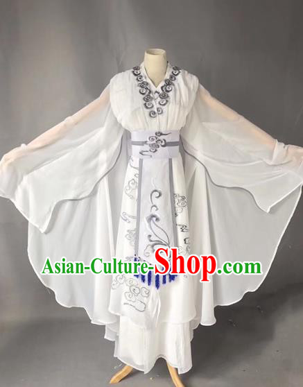 Chinese Traditional Beijing Opera Madam White Snake Clothing Peking Opera Actress Costumes for Adults