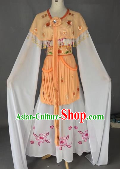 Chinese Traditional Beijing Opera Princess Yellow Dress Peking Opera Diva Costumes for Adults