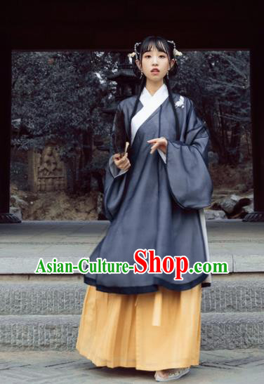 Chinese Ming Dynasty Nobility Women Hanfu Dress Ancient Princess Costumes Complete Set