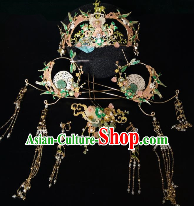 Top Chinese Traditional Hair Accessories Classical Wedding Phoenix Coronet Hairpins Headdress for Women