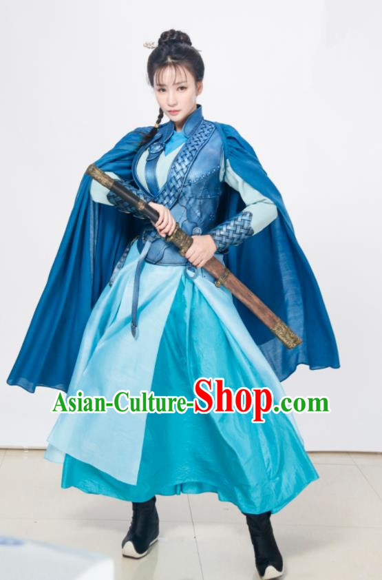 Chinese Ancient Traditional Ming Dynasty Swordswoman Replica Costumes Body Armour for Women