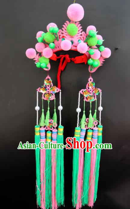 Traditional Chinese Beijing Opera Princess Hats Peking Opera Diva Phoenix Coronet for Women