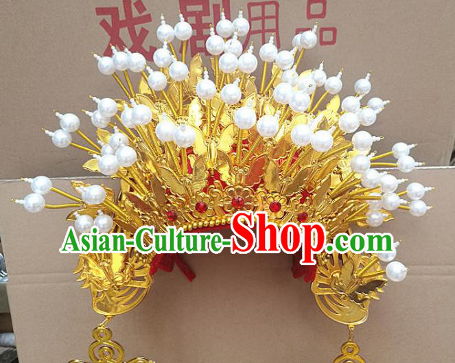 Chinese Traditional Peking Opera Princess Phoenix Coronet Beijing Opera Diva Chaplet Hats for Women