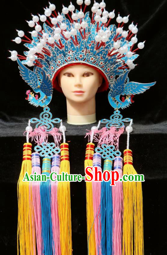 Chinese Traditional Peking Opera Princess Phoenix Coronet Beijing Opera Diva Headwear for Women
