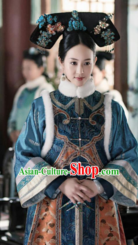 Chinese Ancient Drama Ruyi Royal Love in the Palace Imperial Concubine Embroidered Costumes and Headpiece for Women