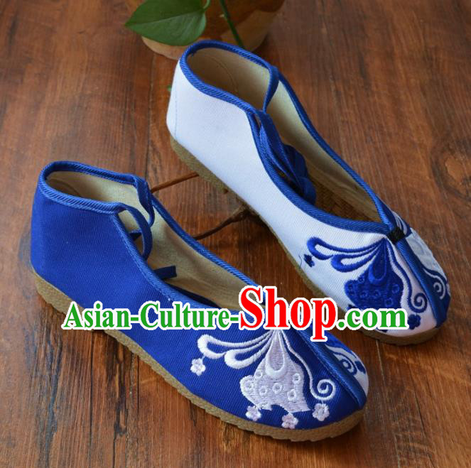 Chinese Traditional Hanfu Shoes Ancient Martial Arts Shoes Embroidered Butterfly Shoes for Women