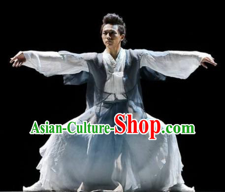 Chinese Traditional Classical Dance Costumes Drama Performance Folk Dance Clothing for Men