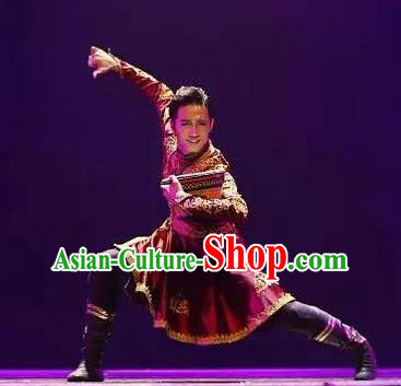 Chinese Traditional Classical Dance Ethnic Costumes Drama Performance Folk Dance Clothing for Men
