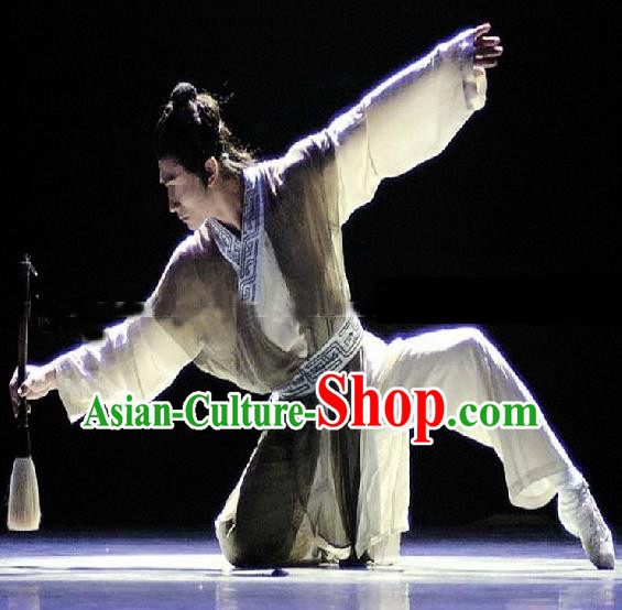Chinese Traditional Classical Dance Costumes Drama Performance Dance Clothing for Men