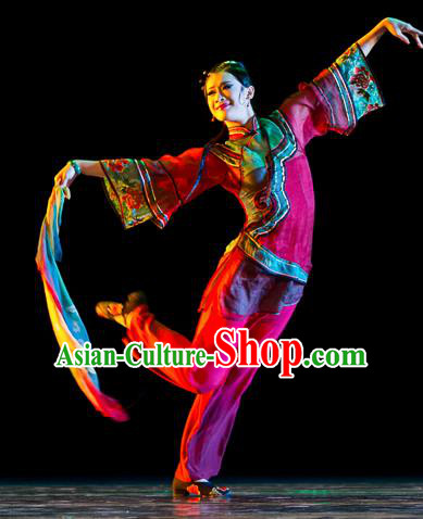 Chinese Traditional Classical Dance Costumes Stage Performance Yanko Dance Clothing for Women