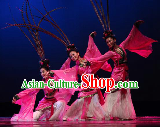 Chinese Traditional Classical Dance Costumes Stage Performance Hanfu Dress for Women