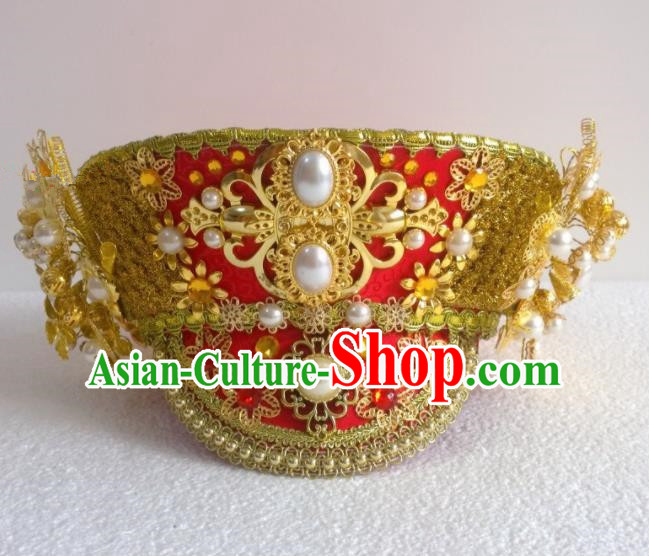 Chinese Ancient Queen Hair Accessories Qing Dynasty Empress Hat Headwear for Women