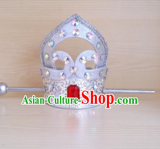 Chinese Ancient Prince Hair Accessories Tang Dynasty Swordsman Crystal Hairdo Crown Headwear for Men