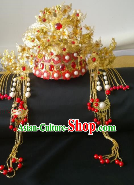 Chinese Ancient Empress Phoenix Coronet Hair Accessories Tang Dynasty Queen Hairpins Headwear for Women