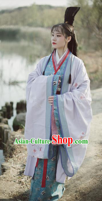 Chinese Ancient Imperial Concubine Hanfu Dress Traditional Han Dynasty Historical Costumes Complete Set for Women