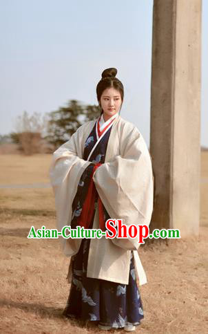 Chinese Ancient Female Hanfu Dress Traditional Han Dynasty Imperial Concubine Historical Costumes Complete Set