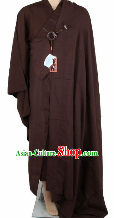 Chinese Traditional Buddhist Monk Coffee Costumes Buddhism Monks Cassock for Men