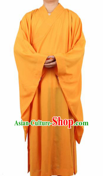 Chinese Traditional Buddhist Monk Yellow Robe Buddhism Dharma Assembly Monks Costumes for Men