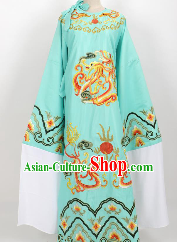 Professional Chinese Traditional Beijing Opera Niche Green Ceremonial Robe Ancient Number One Scholar Costume for Men