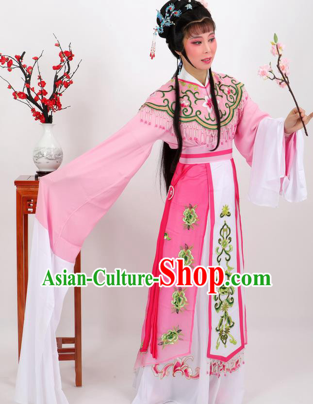 Professional Chinese Traditional Beijing Opera Diva Pink Dress Ancient Imperial Consort Costumes for Women