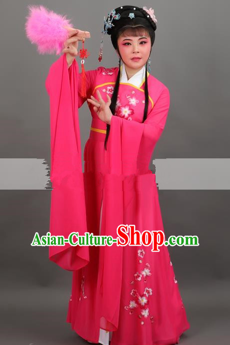 Professional Chinese Traditional Beijing Opera Rosy Dress Ancient Court Lady Costume for Women