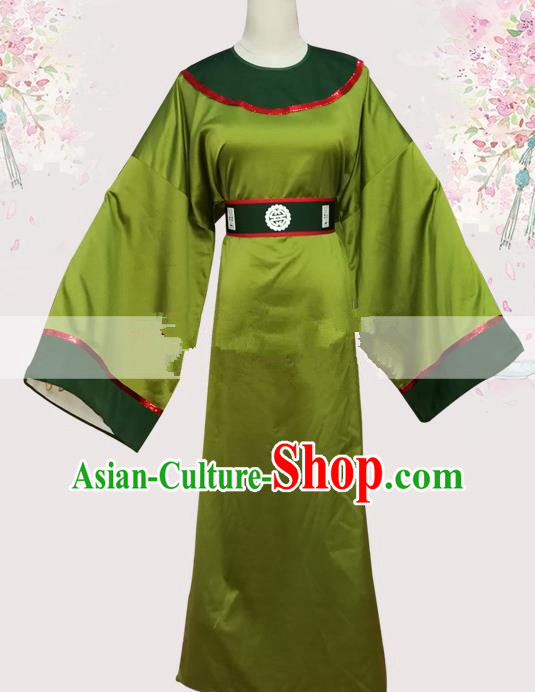 Professional Chinese Traditional Beijing Opera Green Robe Ancient Court Eunuch Costume for Men