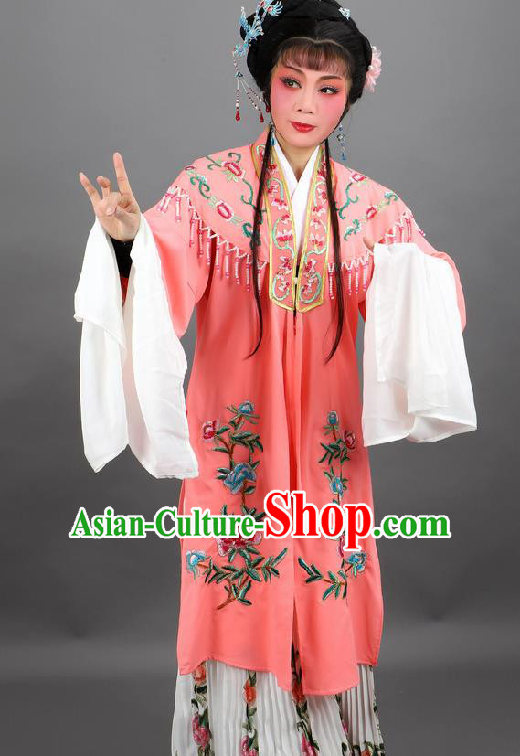 Professional Chinese Traditional Beijing Opera Orange Cloak Ancient Nobility Lady Costume for Women
