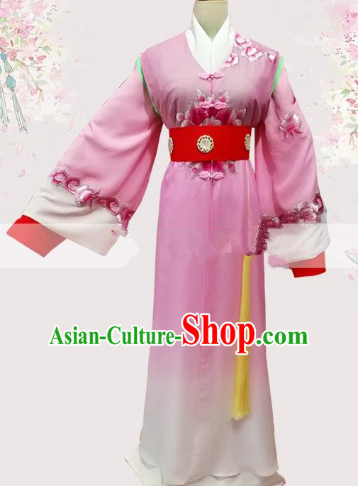 Professional Chinese Traditional Beijing Opera Pink Robe Ancient Scholar Costume for Men
