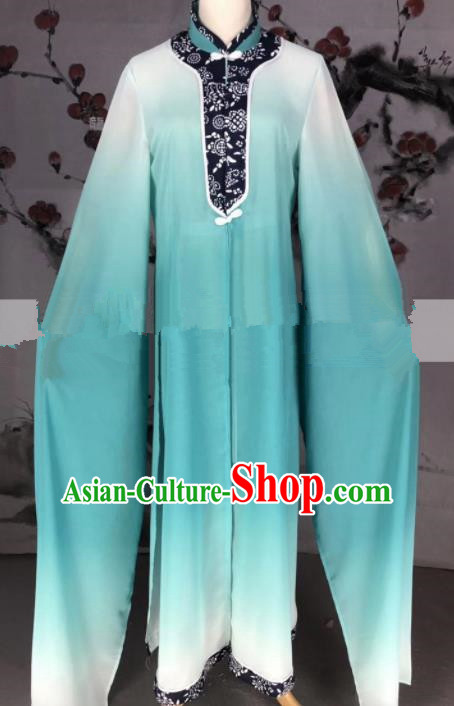 Professional Chinese Traditional Beijing Opera Green Dress Ancient Country Lady Costume for Women