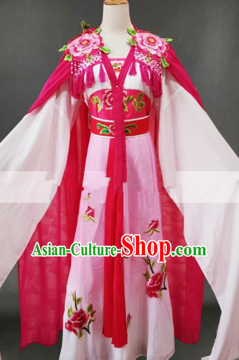 Professional Chinese Traditional Beijing Opera Diva Pink Dress Ancient Female Swordsman Costume for Women